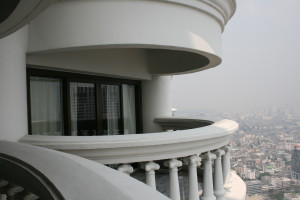 Lebua State Tower Hotel, balkong