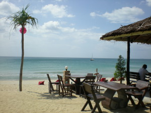 Nice beach resort, Koh Lanta, restaurang